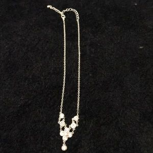 Rhinestone estate necklace 17 inches